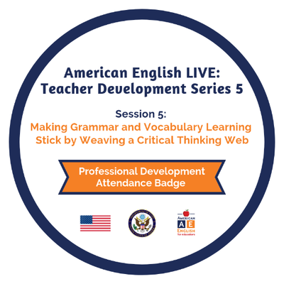 American English Live 5.5 - Making Grammar and Vocabulary Learning Stick by Weaving a Critical Thinking Web - sha256$ec2a78f9e82bac583239939567c783c3b44976fd40a7f326afe3c3a08a4875a5